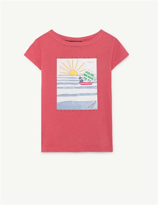 Hippo T-Shirt Red Landscape