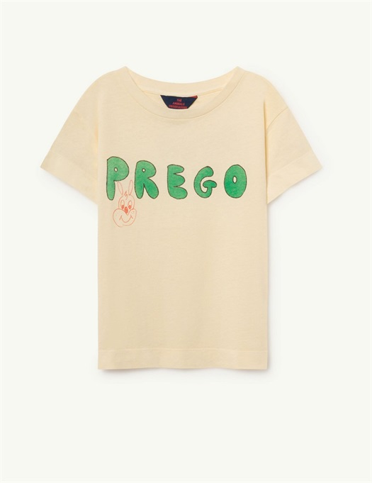 Rooster T-Shirt Yellow Prego