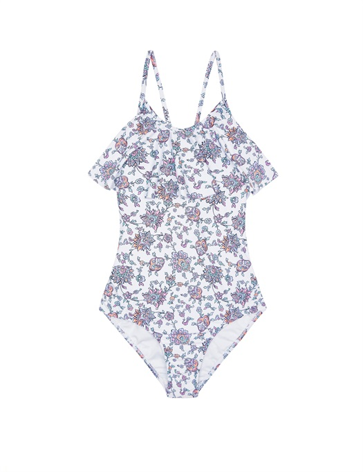 Pop Palace Floral Ruffle Swimsuit
