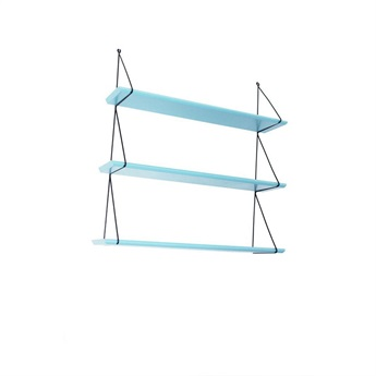 Set of 3 Shelves Aruba Blue