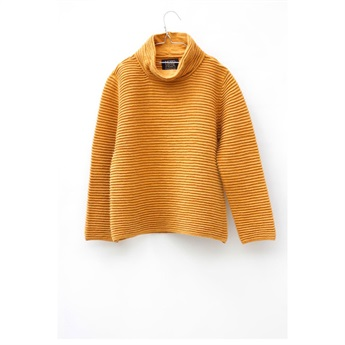 Wide Turtleneck Sweater Naples Yellow