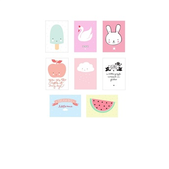 Poster Lightbox Sheets Little Girl