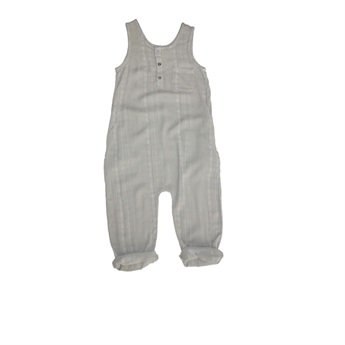 Reed Textured Romper Almond
