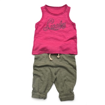 Baby Sleeveless T-Shirt Lucky Fuchsia