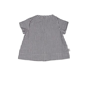Baby Organic Striped Buttoned Blouse