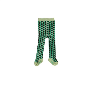 Baby Organic Tights Green Combi
