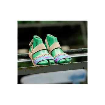 Mylos Green Natural Leather Sandal