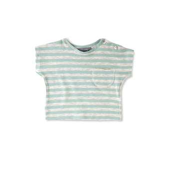 Baby Gorka Striped T-Shirt Aqua