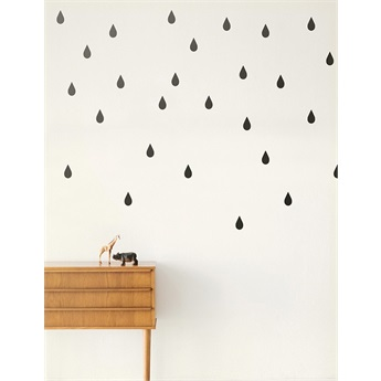Mini Drops Wallsticker Black