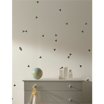 Mini Triangles Wallsticker Black