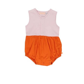 Baby Colour Block SL Onepiece Pink Red