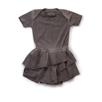 Baby Onesie Skirt Dyed Grey