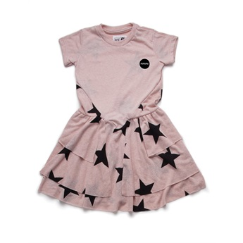 Baby Star Layered Dress Powder Pink