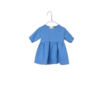 Baby Peasant Dress Water Blue