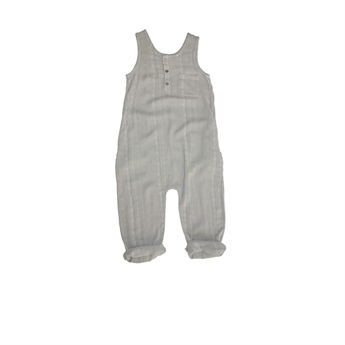 Baby Reed Textured Romper Almond