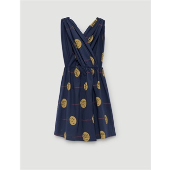 Goose Dress Deep Blue Faces
