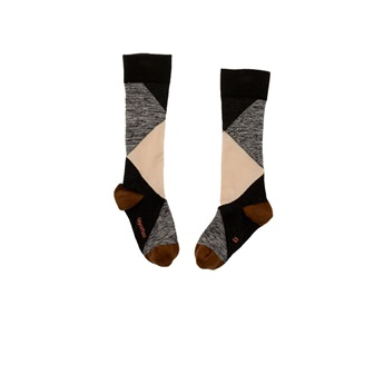 Baby Geometric High Socks Beige / Black