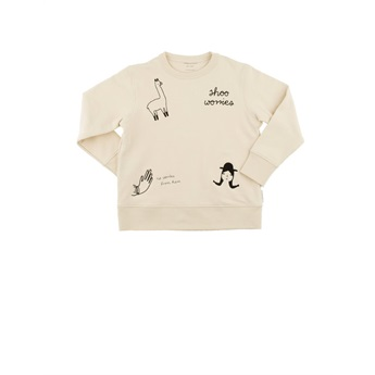 Baby No-Worries Embroidery Sweatshirt Beige / Black