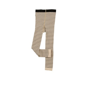 Stripes Leggings Beige / Black
