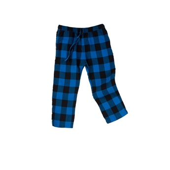 Check Woven Pants Dark Navy / Blue