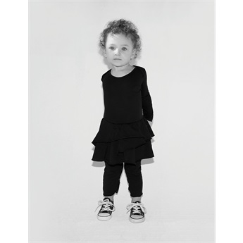 Baby Tiny Eye Patch Onesie Skirt Black