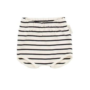 Baby Small Stripes Bloomer Off-White/Navy
