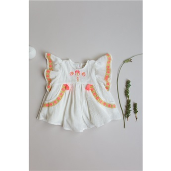 Baby Dress Hindaka White