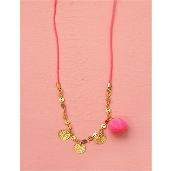 Necklace Lajja Pink Fluo