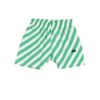 Baby Shorts Diagonal Stripes Vanilla