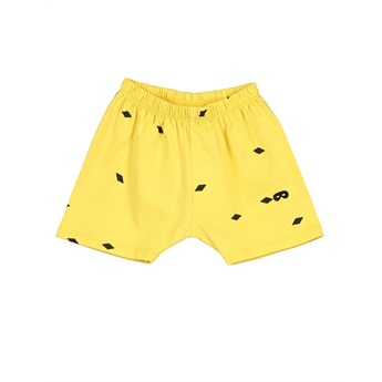 Baby Shorts Small Diamonds Yellow