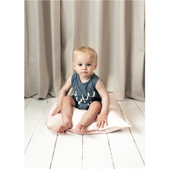 Baby Romper Upside Down Charcoal