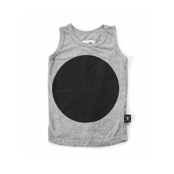 Baby Circle Tank Top Heather Grey