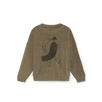 Bird Sheep Skin Fleece Sweatshirt