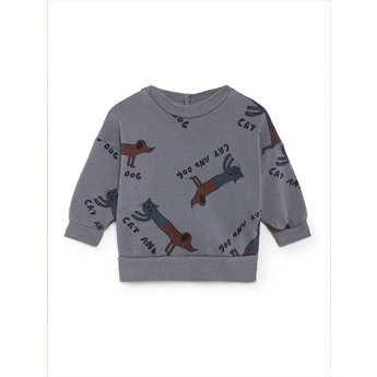 Baby Cats and Dogs Round Neck Sweatshirt