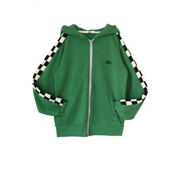Adkin Hooded Zip Green