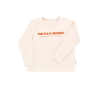 The Day Market Graphic Sweatshirt  beige/red