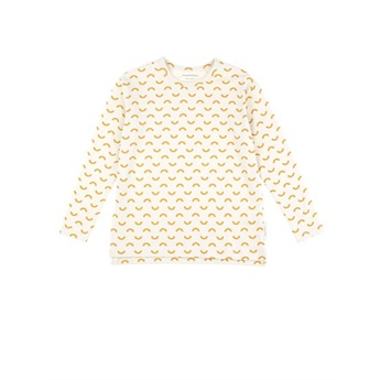 Baby Semicircles Relaxed Tee  beige/mustard