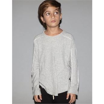 Baby Hemmed Shirt Heather Grey
