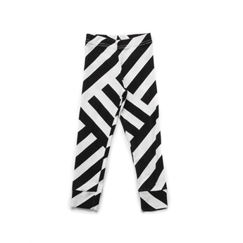 Baby Striped Leggings Black