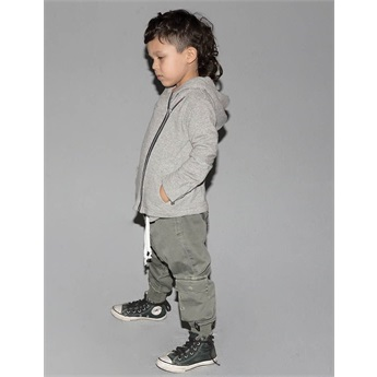 Baby Military Raw Pants Olive