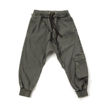 Military Raw Pants Olive