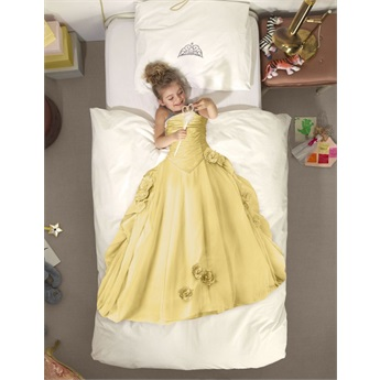 Snurk Princess Yellow Bed Set 140 x 200cm
