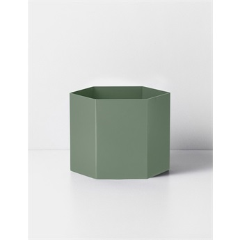 Hexagon Pot Dusty Green Extra Large