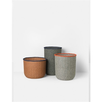 Braided Floor Baskets (set of 3)