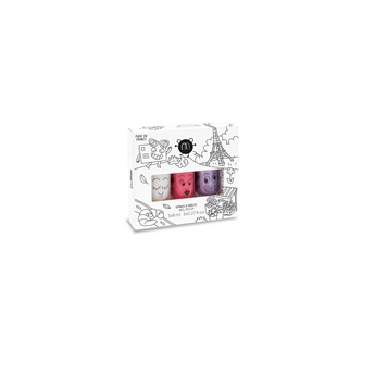 Set of 3 nail polishes –City