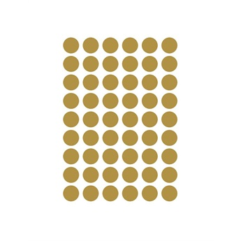 Mini Dots Wallsticker Gold