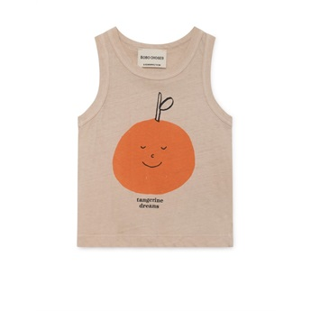 Baby Tangerine Dreams Linen Tank Top