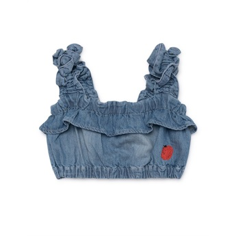 Ruffles Denim Top