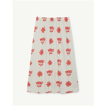 Ladybug Kids Skirt White Flowers