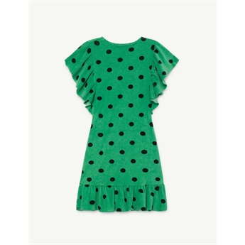 Whale Dress Green Polka Dots